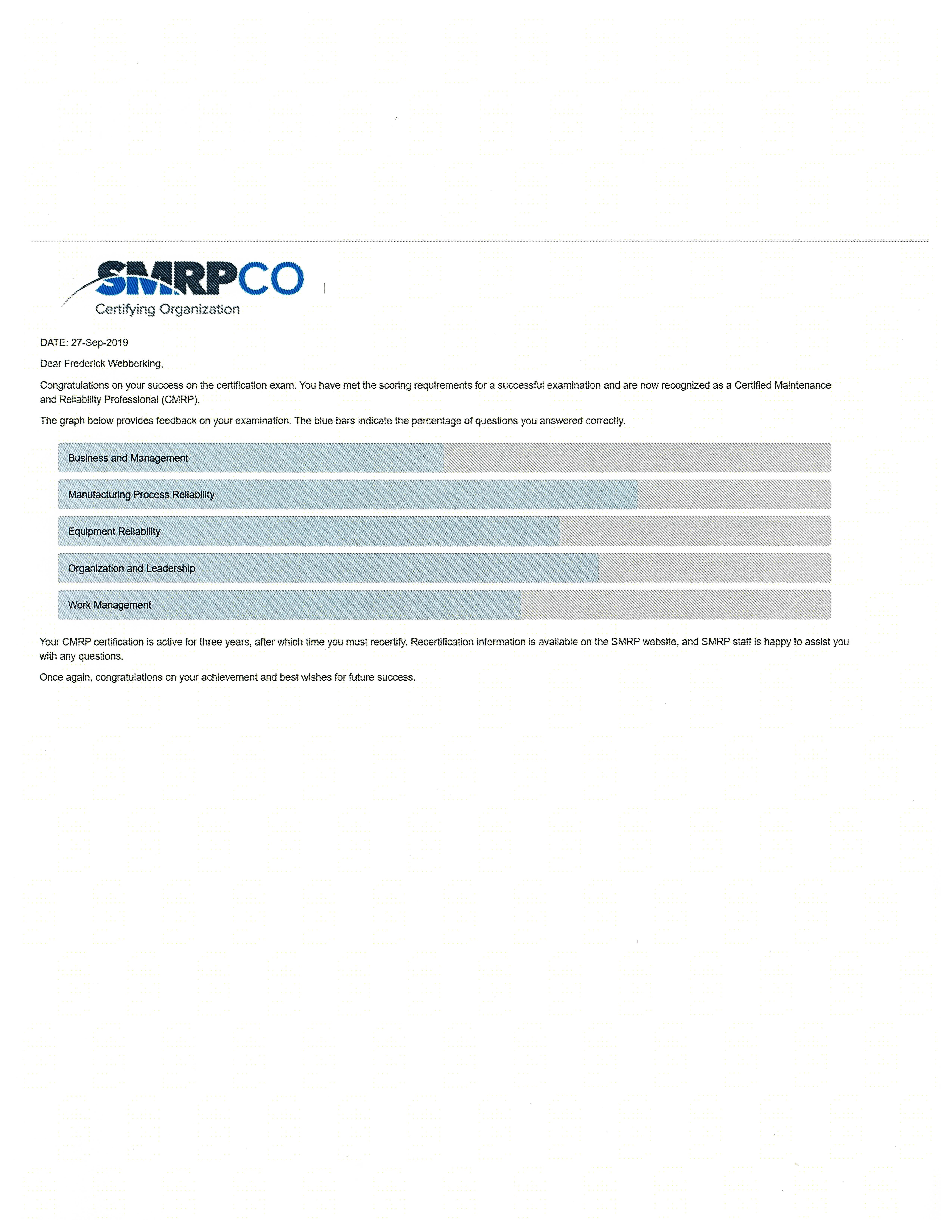 Reference Letter - SMRP - SMRPCO