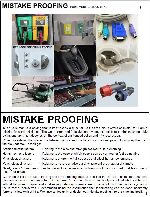 Mistake Proofing Training