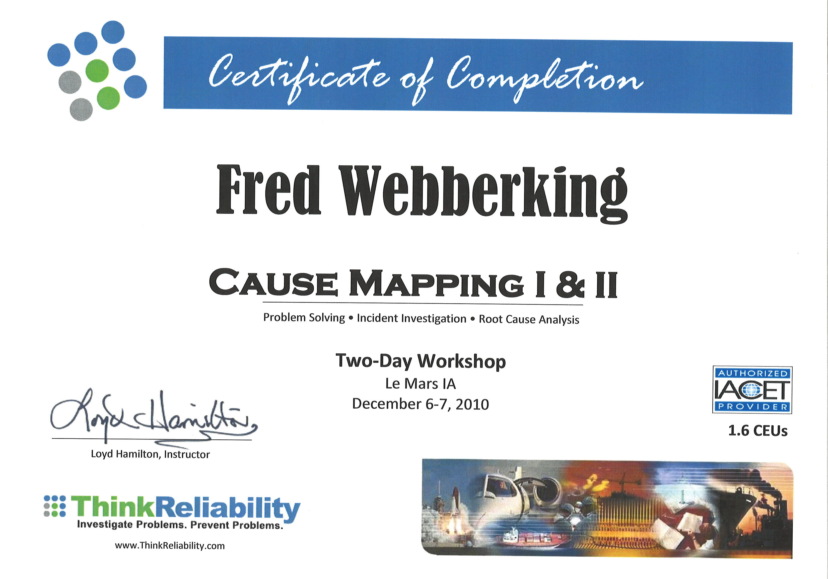 Cause Mapping Certificate Thumbnail