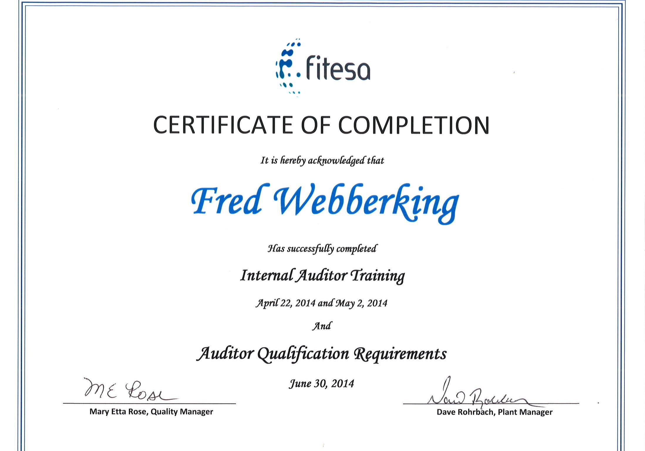 Fitesa Internal Auditor Certificate JPEG Version
