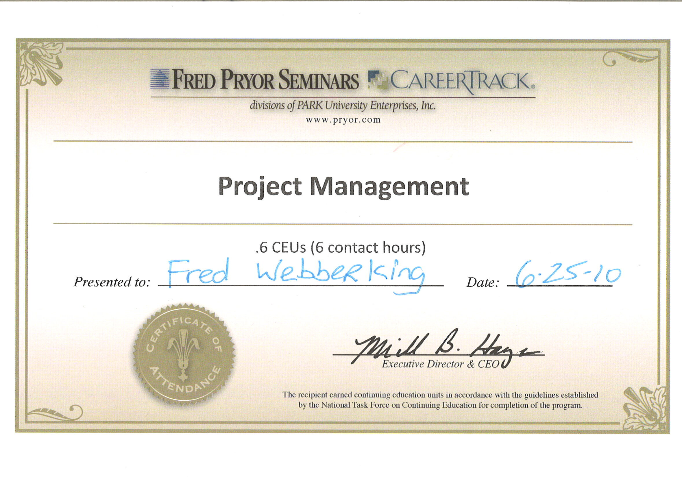 Project Management Certificate Thumbnail